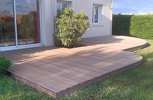 Terrasses bois composite - Stéphane Leroy Paysagiste sud Nantes